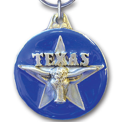 Key Ring - Texas - This collector's key ring is finely detailed and features a Washington Trout emblem.