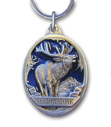 Key Ring - Yellowstone Elk - This collector's key ring is finely detailed and features a Yellowstone Moose emblem.