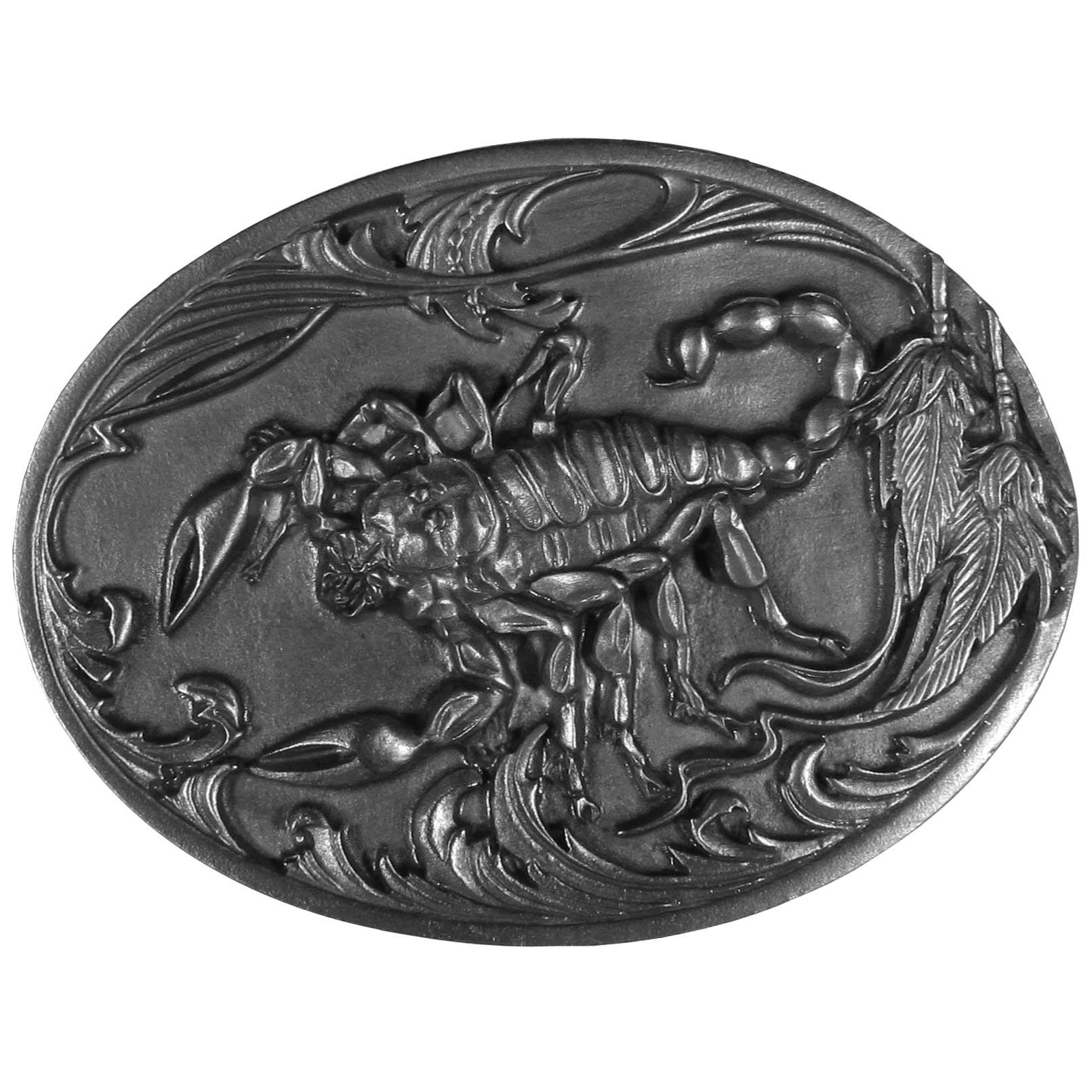 Scorpion Antiqued Belt Buckle