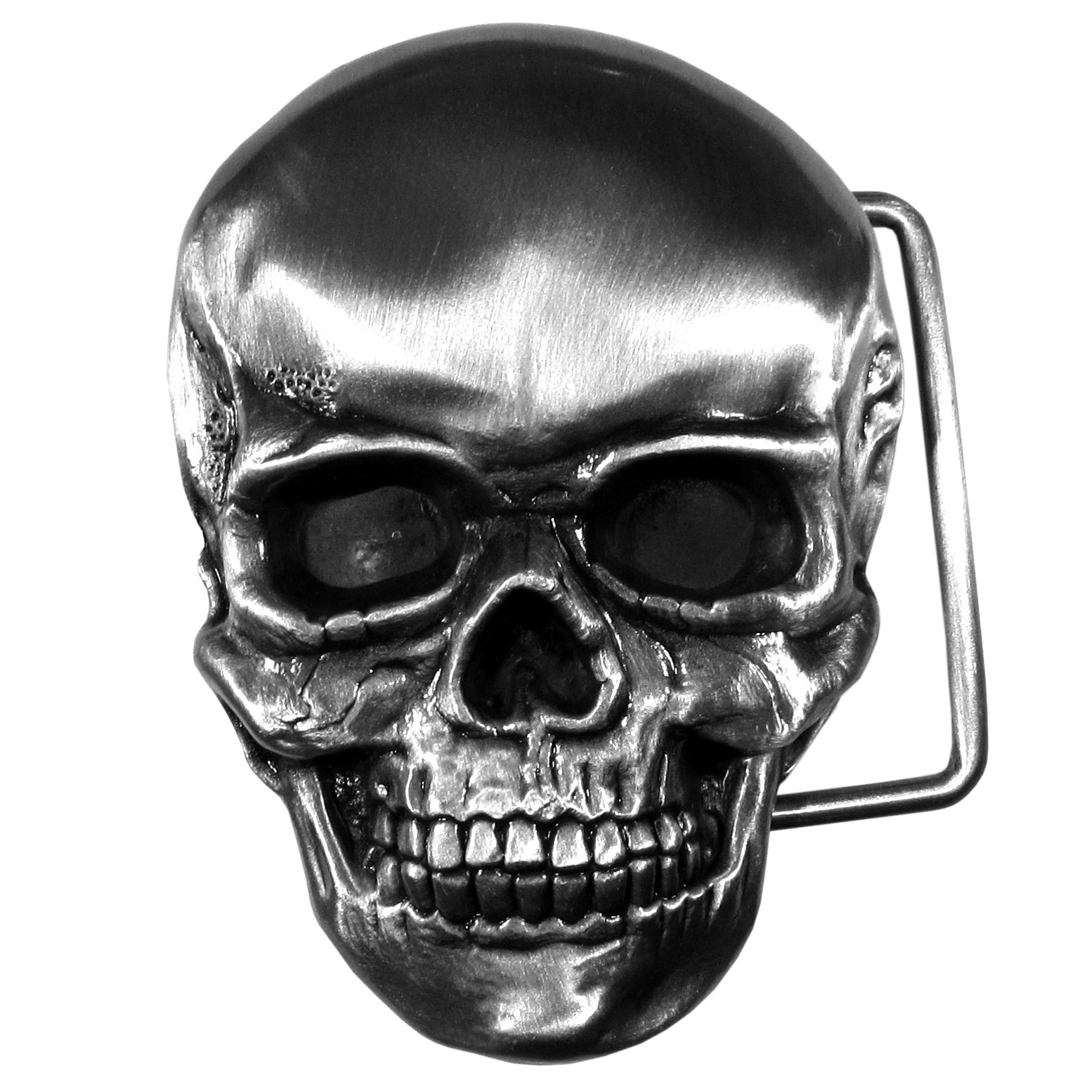 Skull Antiqued Belt Buckle - Finely sculpted and intricately designed belt buckle. Our unique designs often become collector's items.