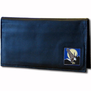Deluxe Leather Checkbook Cover - Flying Eagle - Our Deluxe Checkbook Cover is made of high quality leather and includes a card holder, clear ID window, and inside zipper pocket for added storage. Fire Firefighter emblem is sculpted and enameled with fine detail. Check out our entire line of w