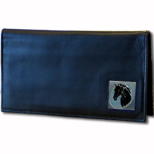 Deluxe Leather Checkbook Cover - Horse Head - Our Deluxe Checkbook Cover is made of high quality leather and includes a card holder, clear ID window, and inside zipper pocket for added storage. Fire Firefighter emblem is sculpted and enameled with fine detail. Check out our entire line of w
