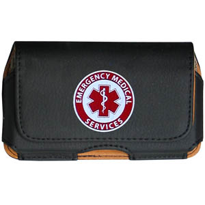 EMS Cell Pouch - Keep you personal electronics safe with this horizontal protective case with belt clip and easy flip front. Fits a variety of personal electronics like blackberries, Nano classics, and iTouch.
