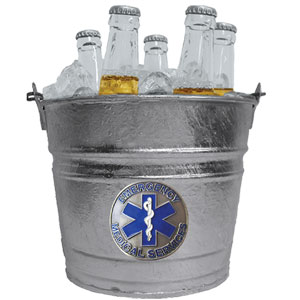 EMS Ice Bucket - Our 1 gallon ice bucket features a metal logo with enameled finish. The bucket is the perfect tailgating accessory or backyard BBQ.