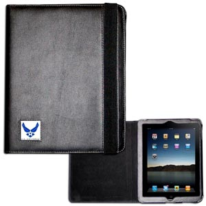 Air Force iPad Case - This classy case fits the popular iPads and features a metal emblem.