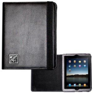 Eagle iPad Case - This classy case fits the popular iPads and features a metal emblem.