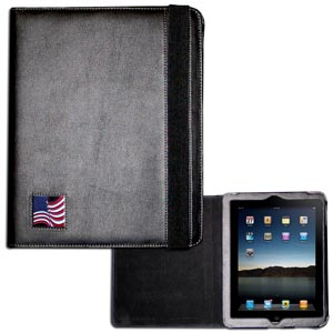 Flag iPad Case - This classy case fits the popular iPads and features a metal emblem.