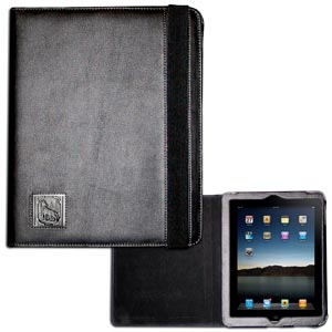 Wolf iPad Case - This classy case fits the popular iPads and features a metal emblem.