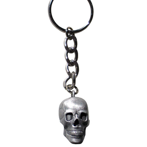 3D Skull Key Ring - There is amazing detail on this 3D carved skull key ring.