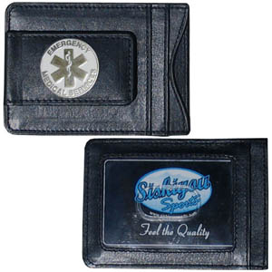EMS Money Clip/Cardholder - Our genuine leather money clip/cardholder is the perfect way to organize both your cash and cards while showing off your EMS pride!