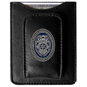 Police Money Clip/Cardholder - Our genuine leather money clip/cardholder is the perfect way to organize both your cash and cards while showing off your law enforcement pride!