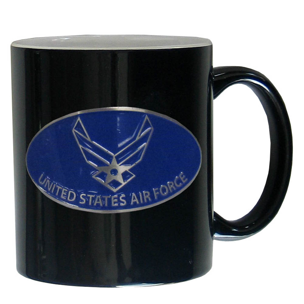 Air Force Ceramic Coffee mug - Our ceramic coffee mugs have an 11 oz capacity and feature a fully cast and hand enameled Air Force emblem.