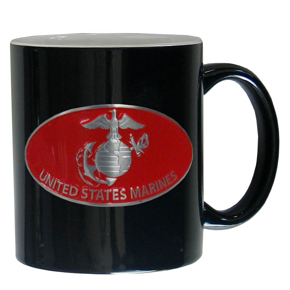 Marines Ceramic Coffee mug - Our ceramic coffee mugs have an 11 oz capacity and feature a fully cast and hand enameled Marines emblem.