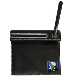 Eagle Enam Desk Set - Our classic desk set features a slot for a note pad, a slot for your business cards and comes with a stylish pen. The set comes with a metal emblem.
