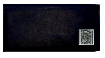 Executive Leather Checkbook Cover - Train Locomotive - These Train Locomotive Executive Checkbook Covers are made of high quality fine grain leather with a sculpted Train emblem featured on the front panel.