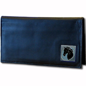 Executive Leather Checkbook Cover - Horse Head - Our Executive Checkbook Covers are made of high quality fine grain leather with a sculpted fire fighter emblem featured on the front panel. Check out our entire line of  leather wallets!