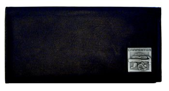 Executive Leather Checkbook Cover - Carpenter - Our Executive Checkbook Covers are made of high quality fine grain leather with a sculpted Carpenter emblem featured on the front panel.