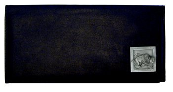 Executive Leather Checkbook Cover - Bison - Our Executive Checkbook Covers are made of high quality fine grain leather with a sculpted Bison emblem featured on the front panel.