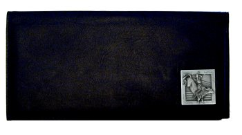 Executive Leather Checkbook Cover - Bull Rider - Our Executive Checkbook Covers are made of high quality fine grain leather with a sculpted Bull Rider emblem featured on the front panel.