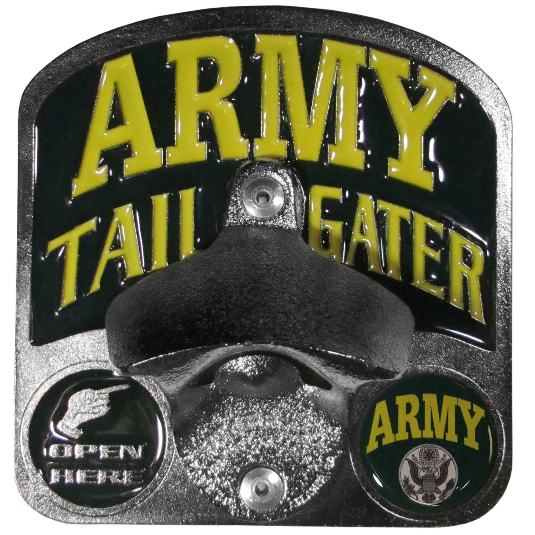 "Army Tailgater Hitch Cover - ""Our durable hitch covers are a great way to off your individual style. The hitch fits a 2"""" hitch receiver."""