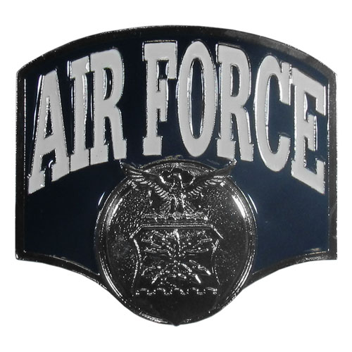 "Air Force Hitch Cover - Our Air Force Hitch Cover is a durable and attractive way to show off your school spirit. The hitch fits a 2"" hitch receiver."