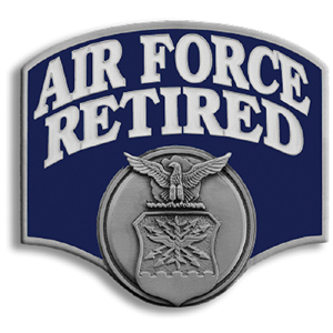 "Air Force Retired Hitch Cover - Our durable hitch covers are a great way to off your individual style. The hitch fits a 2"" hitch receiver."