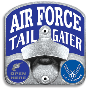 Air Force Tailgater Hitch Cover - Our tailgater hitch cover   features a functional bottle opener and team emblem with enameled finish.