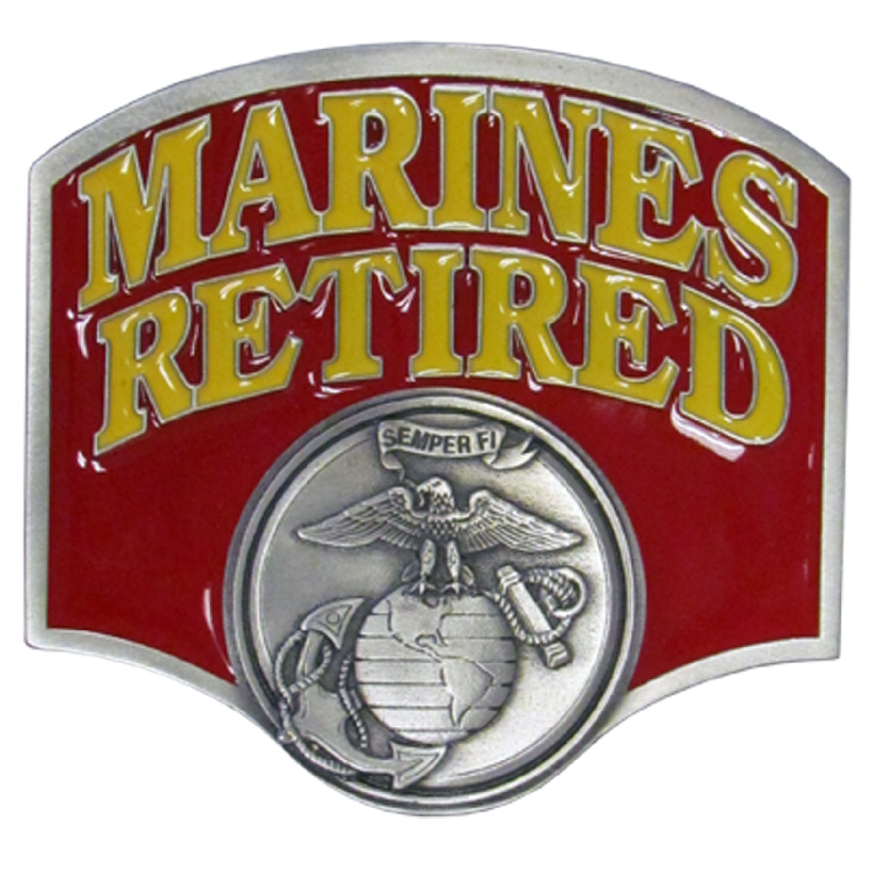 "Marines Retired Hitch Cover - ""Our durable hitch covers are a great way to off your individual style. The hitch fits a 2"""" hitch receiver."""