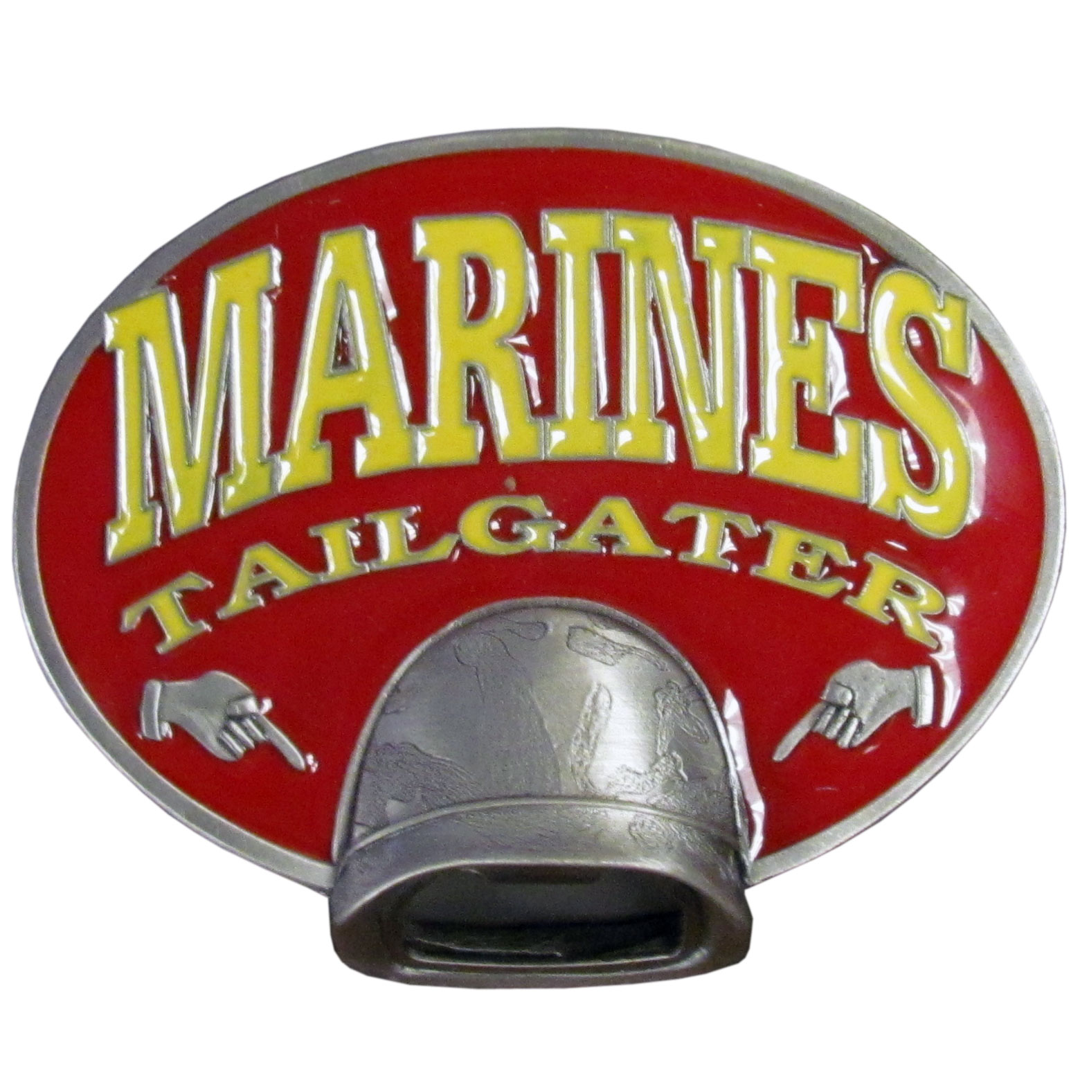 "Marines Tailgater Hitch Cover Class III - ""Our durable hitch covers are a great way to off your individual style. The hitch fits a 2"""" hitch receiver."""