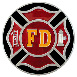 "Firefighter Hitch Cover - Our Firefighter Hitch Cover is a durable and attractive way to show off your school spirit. The hitch fits a 2"" hitch receiver."