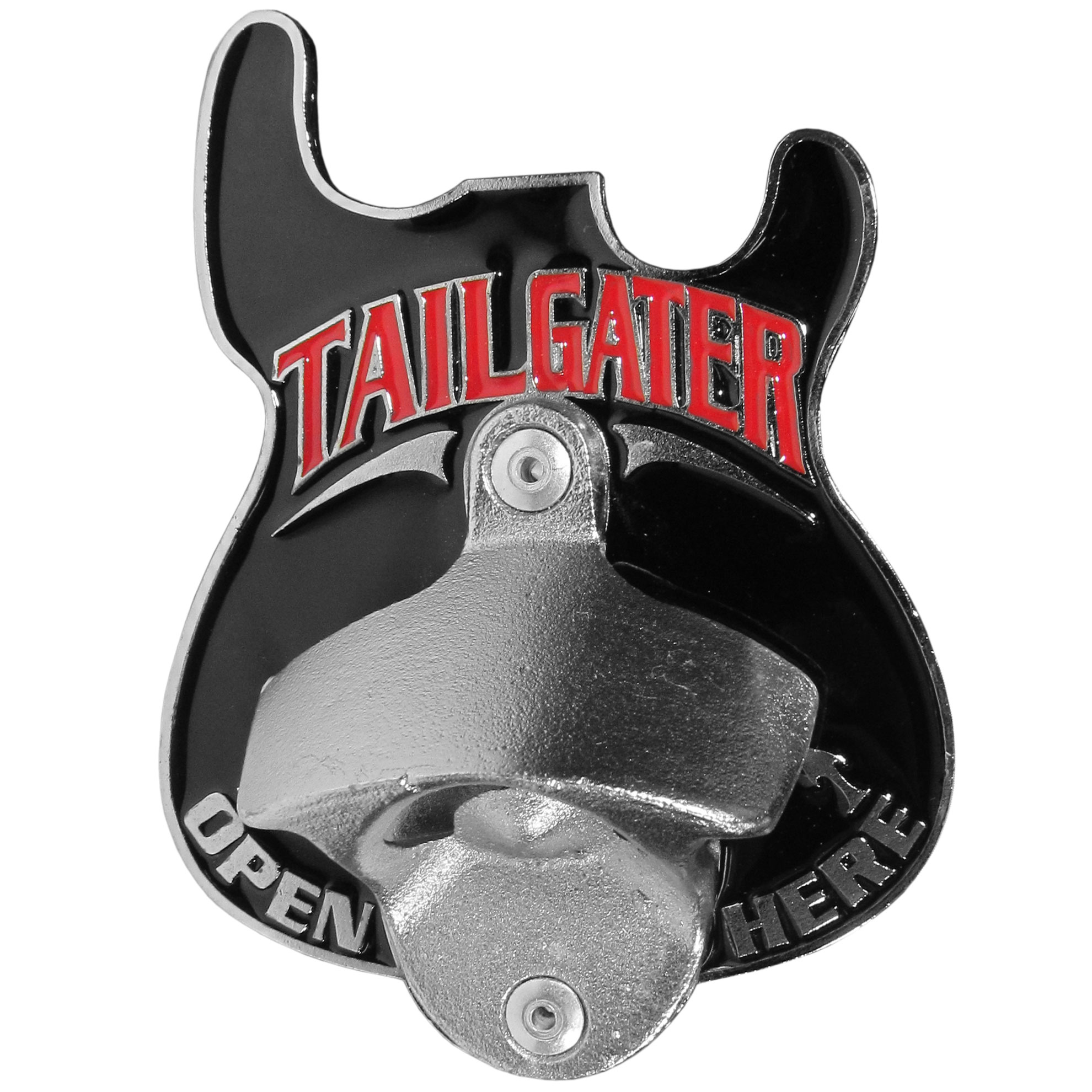 "Guitar Tailgater Hitch Cover - ""Our durable hitch covers are a great way to off your individual style. The hitch fits a 2"""" hitch receiver and has a bottle opener on the hitch plate."""
