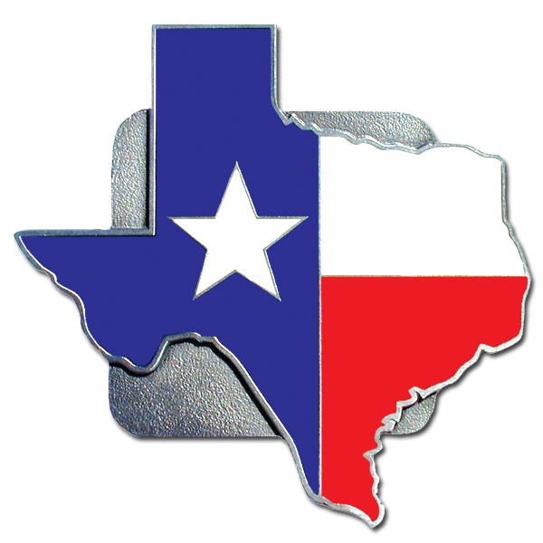 "Texas Border Flag Hitch Cover - ""Our durable hitch covers are a great way to off your individual style. The hitch fits a 2"""" hitch receiver."""