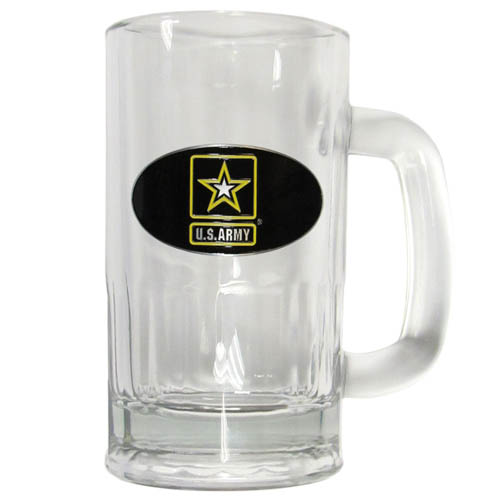 Army 16 oz Tankard - Classic 16 oz collegiate brew mug featuring a cast & enameled Army emblem.