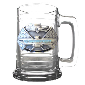 Collectible Tankard - Ford Thunderbird - Our  Ford Thunderbird collectible glass tankard features a finely sculpted and hand painted emblem.  A great addition to a Ford collection or  gift for any Ford fan! Checkout our full lines of  Ford merchandise and  bever