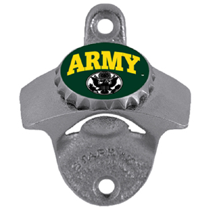 Army Wall Bottle Opener - Our sturdy wall mounted bottle opener is a great addition for your deck, garage or bar to show off your armed forces pride.