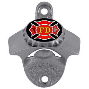 Firefighter Wall Bottle Opener - Our sturdy wall mounted bottle opener is a great addition for your deck, garage or bar to show off your fighter pride.