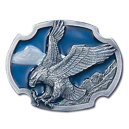 Belt Buckle - Eagle Landing - This finely sculpted and enameled belt buckle contains exceptional 3D detailing. Siskiyou's unique buckle designs often become collector's items.