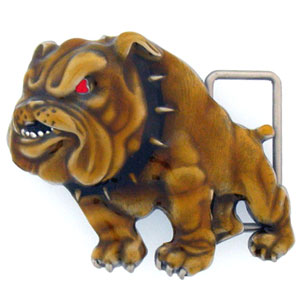 Belt Buckle - Bulldog 3D - This finely sculpted and enameled belt buckle contains exceptional 3D detailing. Siskiyou's unique buckle designs often become collector's items.