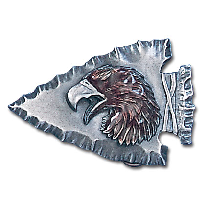 Belt Buckle - Eagle on Arrowhead  - This finely sculpted and enameled belt buckle contains exceptional 3D detailing. Siskiyou's unique buckle designs often become collector's items.