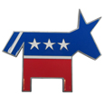 Trailer Hitch Cover - Democrat