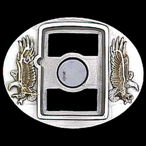 Belt Buckle - Eagle (Zippo Lighter) - Buy one of our Zippo Lighters to go with this finely sculpted and enameled belt buckle. Siskiyou's unique buckle designs often become collector's items and are unequaled with craftsmanship.