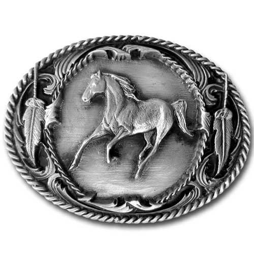Running Horse Buckle - Finely sculpted and intricately designed belt buckle. Our unique designs often become collector's items.