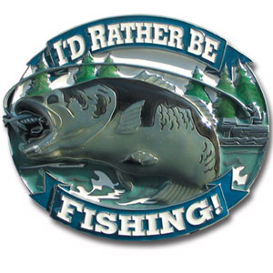Rather Be Fishing Hitch Cover - Love to Fish? Our finely crafted three-dimensional trailer hitch covers are hand enameled and are a great way to customize your vehicle.