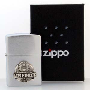 Armed Forces Zippo Lighter - Air Force - Official Zippo lighter featuring a quality Air Force emblem.