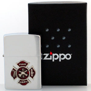 Zippo Lighter - Maltese Cross - Official Zippo lighter featuring a quality Maltese Cross emblem.