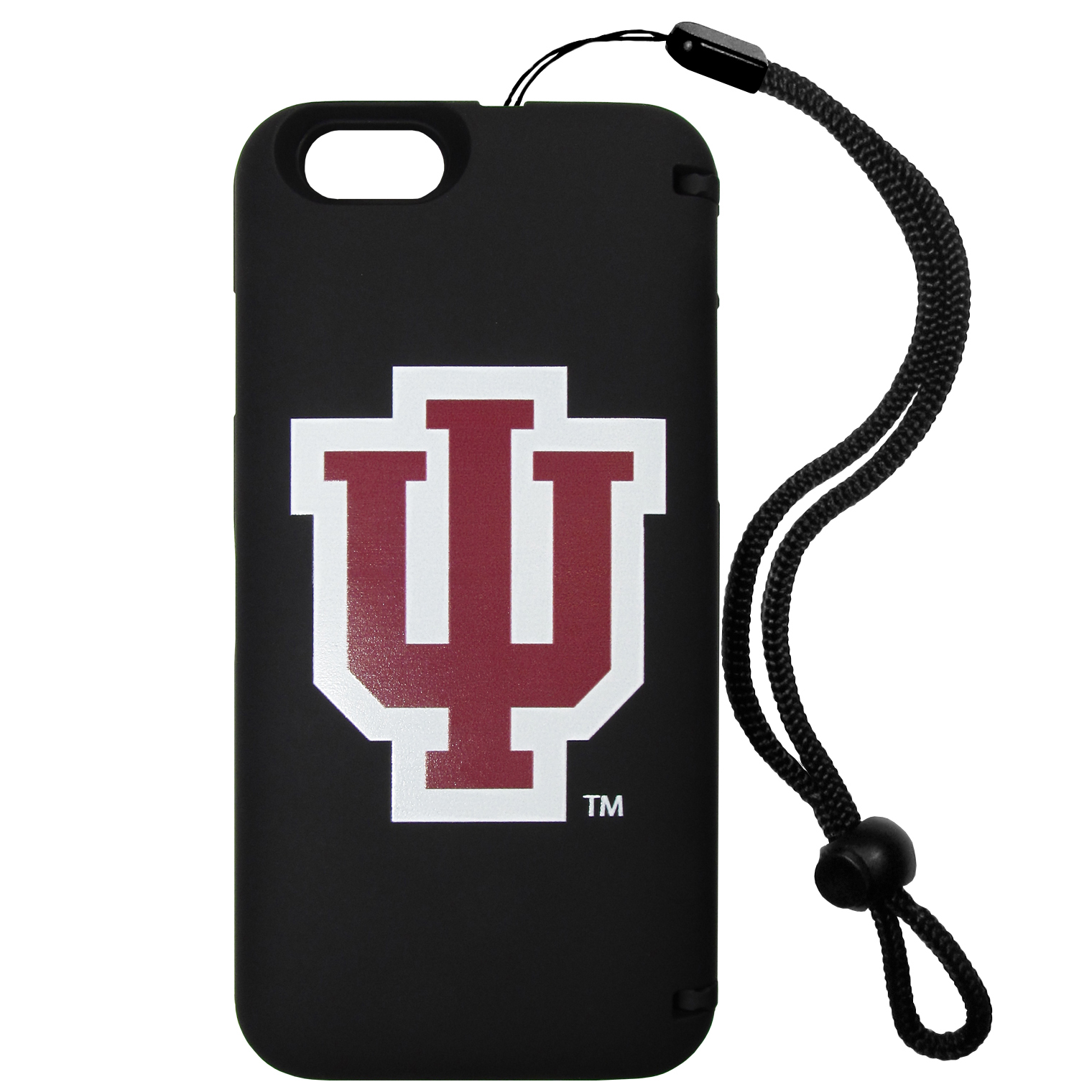 Indiana Hoosiers iPhone 6 Everything Case - This case really does have everything but the kitchen sink! The hidden compartment lets you keep your cards, money and tickets to the big game safe and secure and has a compact mirror so you can make sure your game face is ready to go. It also comes with a kickstand to make chatting and watching videos a breeze. The wrist strap allows you to travel with ease with your everything case. If that's not enough, it also comes with the Indiana Hoosiers logo printed in expert detail on the front.