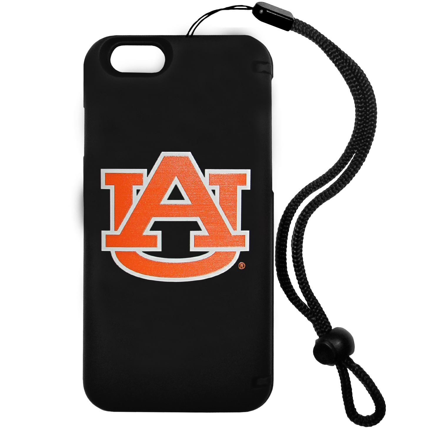 Auburn Tigers iPhone 6 Everything Case - This case really does have everything but the kitchen sink! The hidden compartment lets you keep your cards, money and tickets to the big game safe and secure and has a compact mirror so you can make sure your game face is ready to go. It also comes with a kickstand to make chatting and watching videos a breeze. The wrist strap allows you to travel with ease with your everything case. If that's not enough, it also comes with the Auburn Tigers logo printed in expert detail on the front.