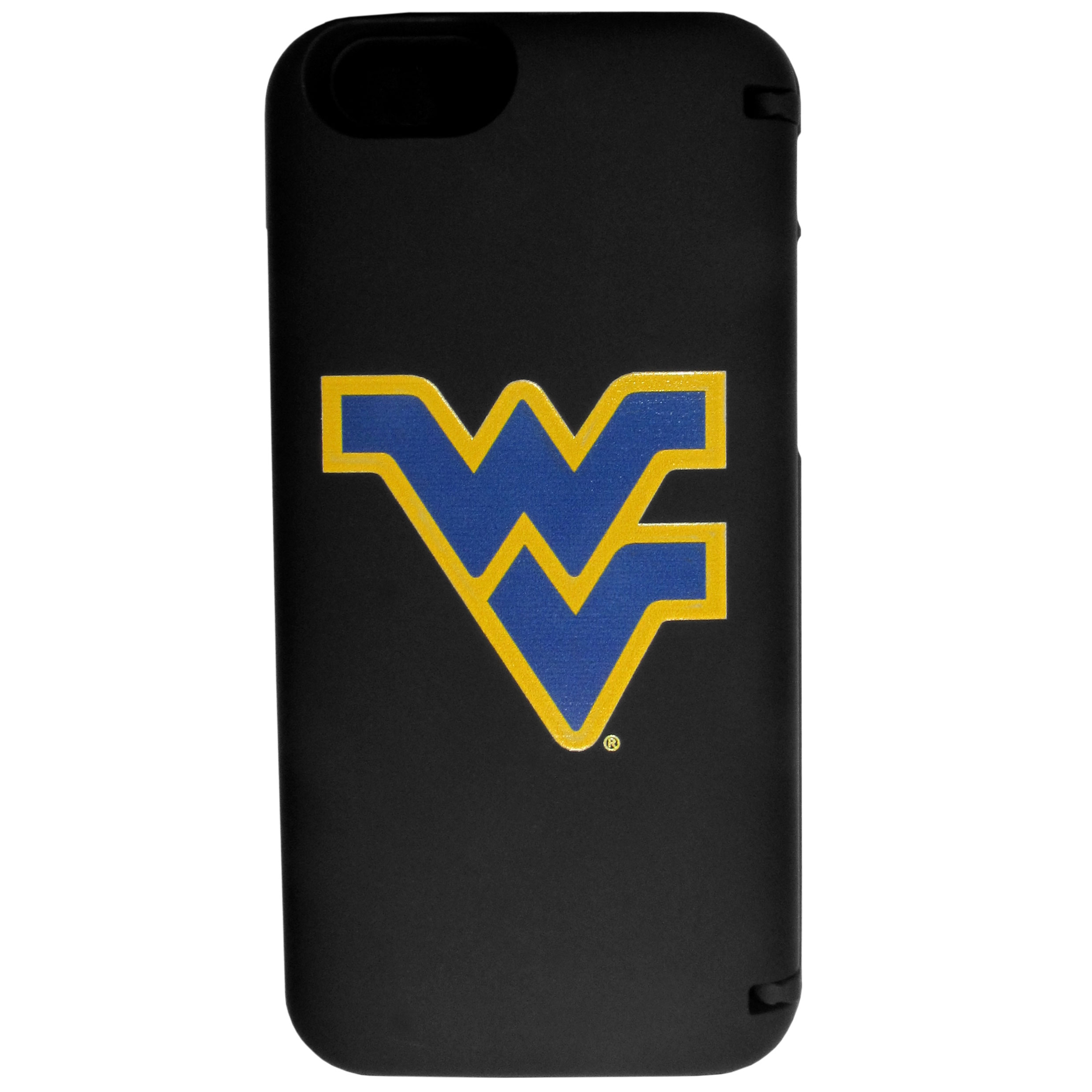 W. Virginia Mountaineers iPhone 6 Everything Case - This case really does have everything but the kitchen sink! The hidden compartment lets you keep your cards, money and tickets to the big game safe and secure and has a compact mirror so you can make sure your game face is ready to go. It also comes with a kickstand to make chatting and watching videos a breeze. The wrist strap allows you to travel with ease with your everything case. If that's not enough, it also comes with the W. Virginia Mountaineers logo printed in expert detail on the front.