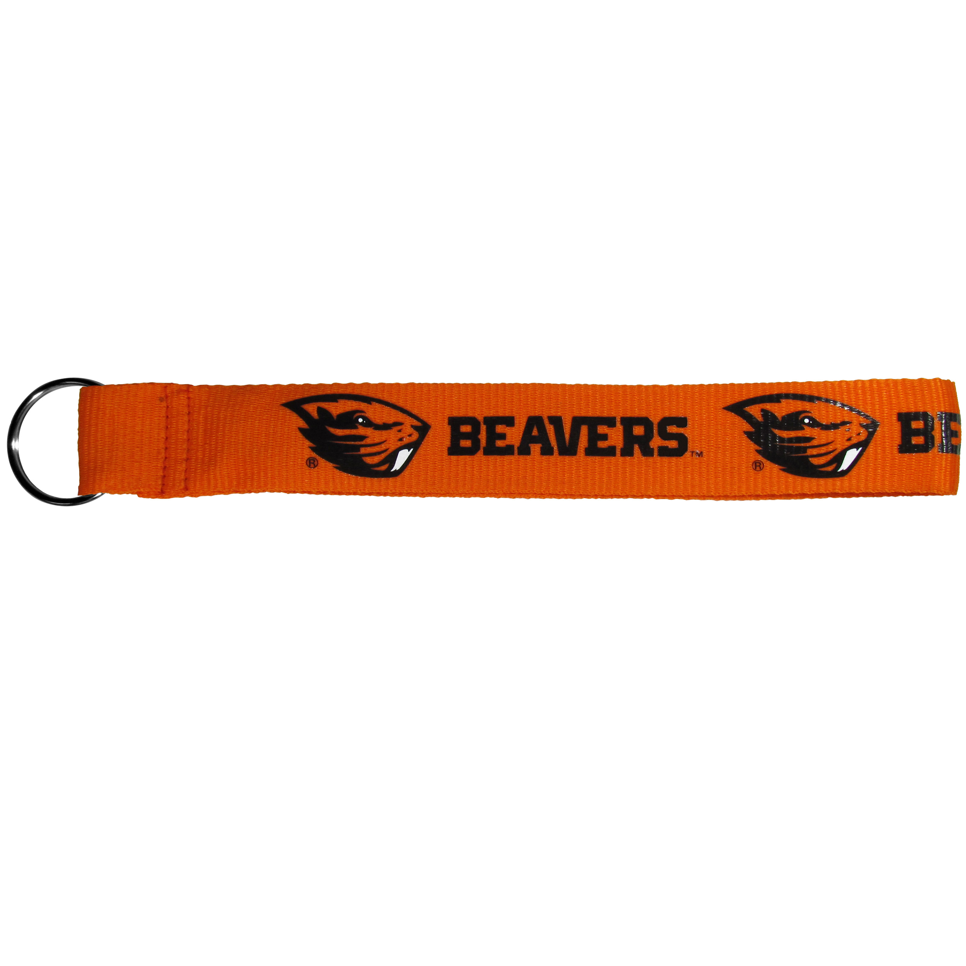 Oregon St. Beavers  Lanyard Key Chain - Our wrist strap lanyard key chain is made of durable and comfortable woven material and is a not only a great key chain but an easy way to keep track of your keys. The bright Oregon St. Beavers graffics makes this key chain easy to find in gym bags, purses and in the dreaded couch cushions.