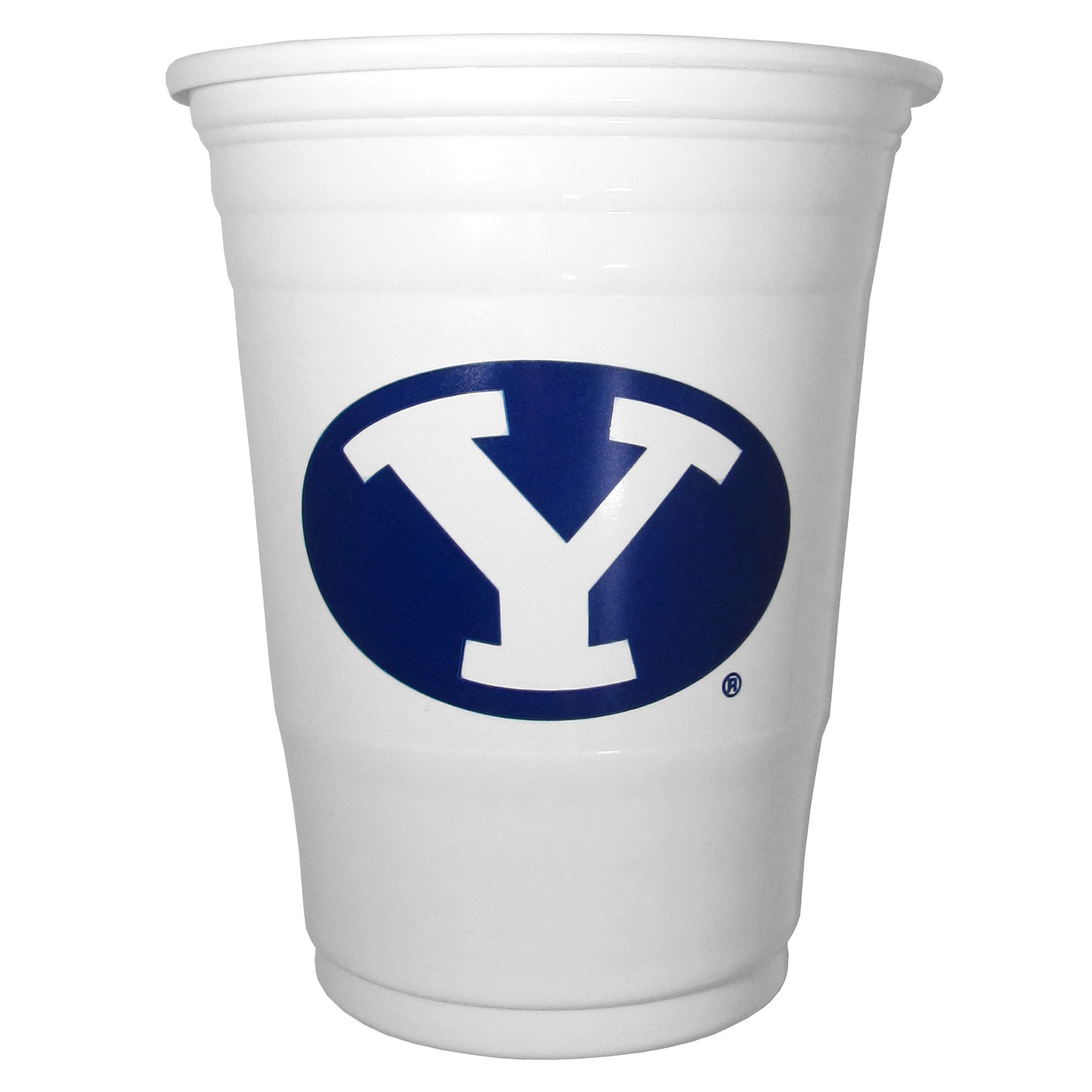 BYU Cougars Plastic Game Day Cups - Our 18 ounce game day cups are what every tailgating or backyard events needs! The cups feature a big BYU Cougarslogo so you can show off your team pride. The popular 18 ounce size is perfect for drinks or ping pong balls! Sold in sleeves of 18 cups.